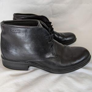 Ecco Black Leather GoreTex Desert Boots